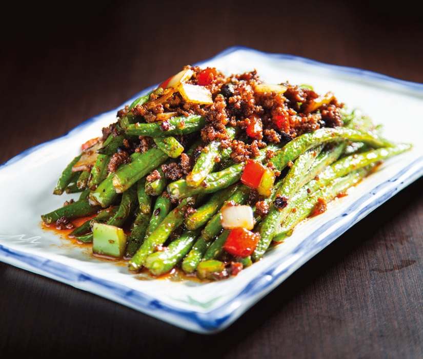 Stir fried spring beans
