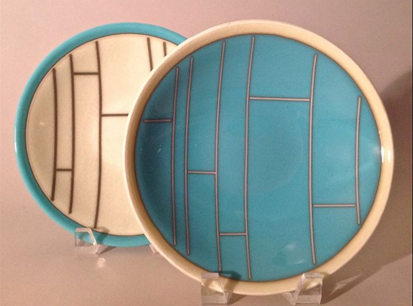 """Fused Glass Serving Tray and detail  15"""" x 7"""""""