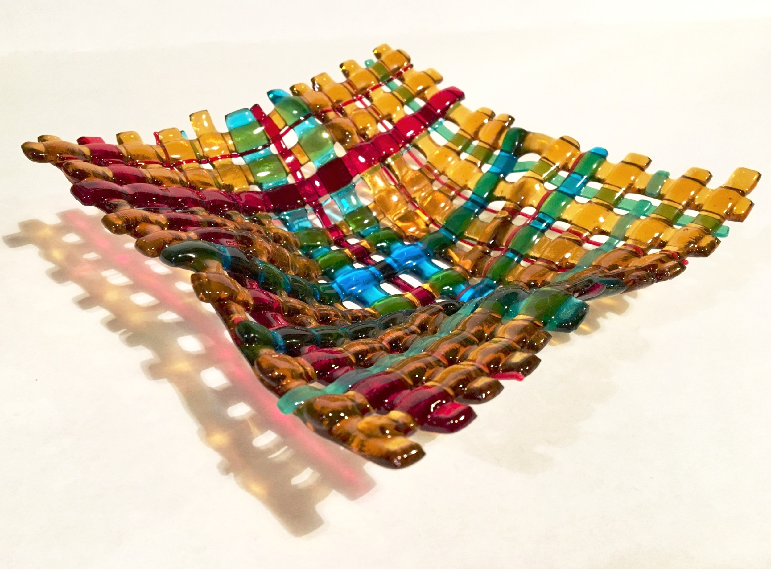 Fused Glass Woven Bowl