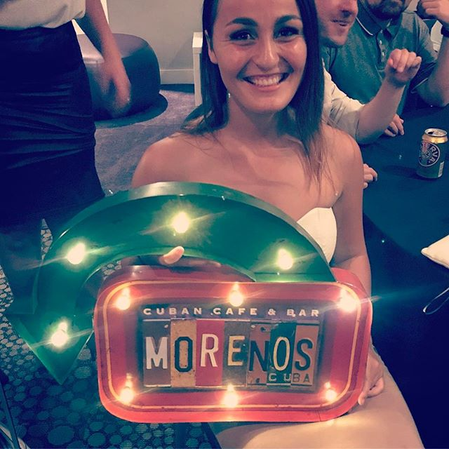 Another happy Moreno's Cuba customer! @thedorchester #mojitos #party #food #cubanbar #miamibeach