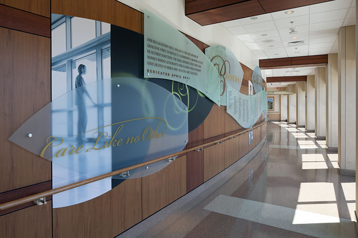 Acute Care Pavilion - Donor Wall  Anne Arundel Medical Center Annapolis, Maryland