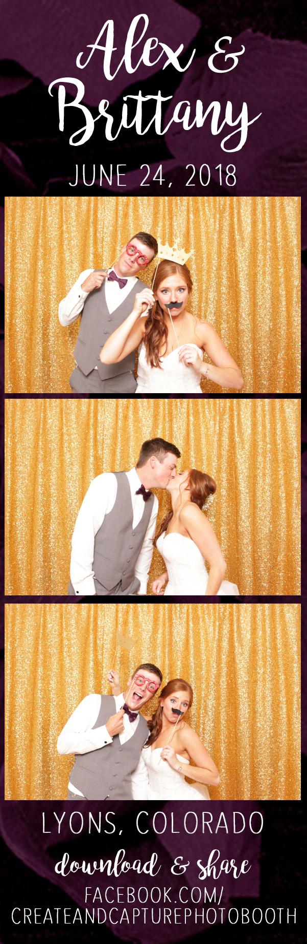 sparkly gold backdrop, plum rose petals, lyons colorado wedding