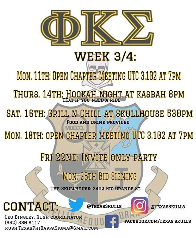 Rush is winding down so make sure to come out to some events or DM if you have any questions! 🤘🏼#RushSkulls
