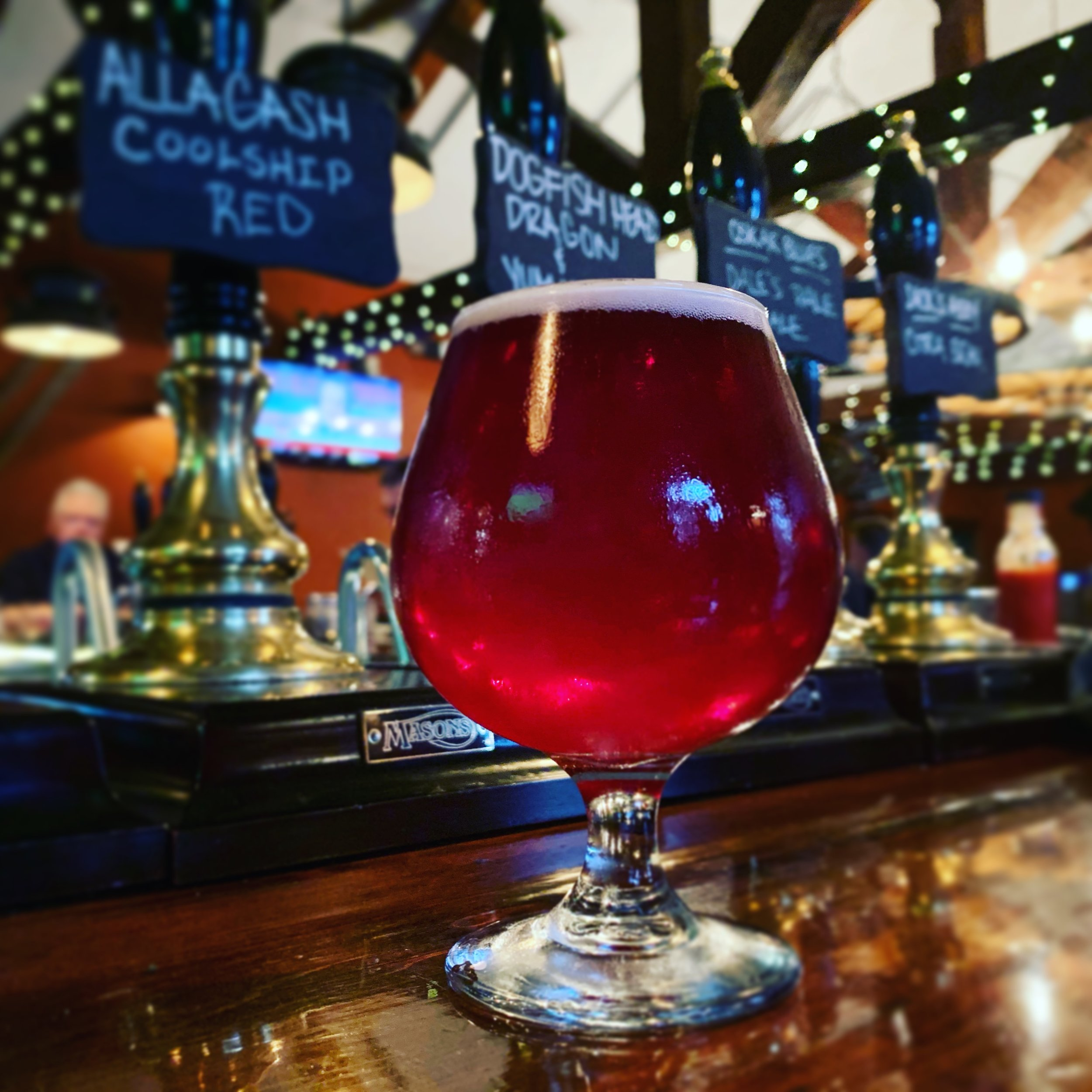 Allagash Coolship Red at the Latham House Tavern