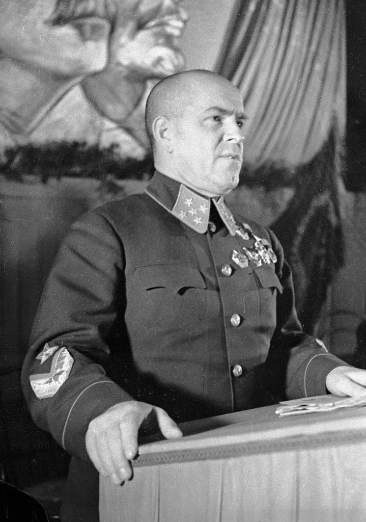 General Georgy Zhukov speaking on 1 September 1941.