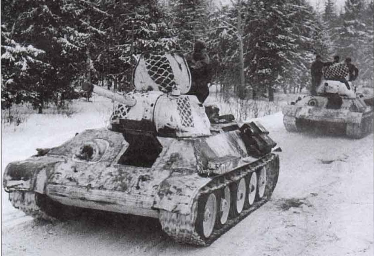 Soviet armour during the Battle of Moscow
