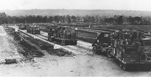 US Army semi-trailers in France 1945