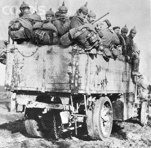 German military lorry in Great War