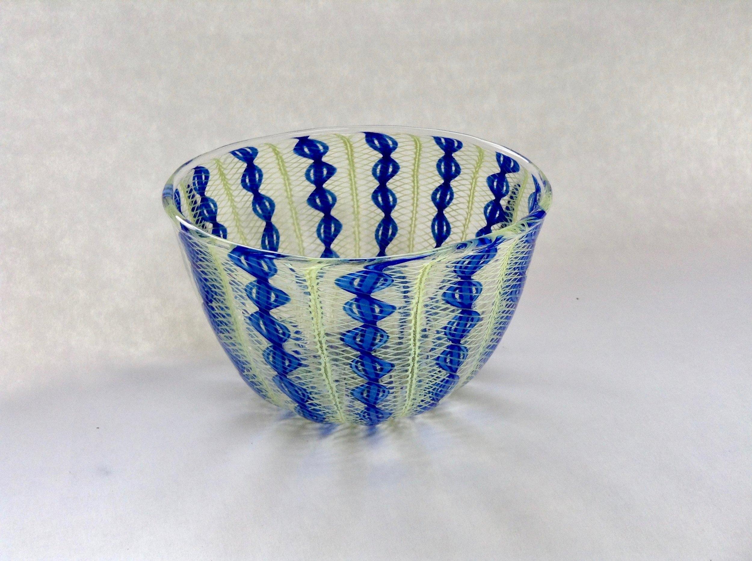 Cobalt/ Green Zanfirico Bowl
