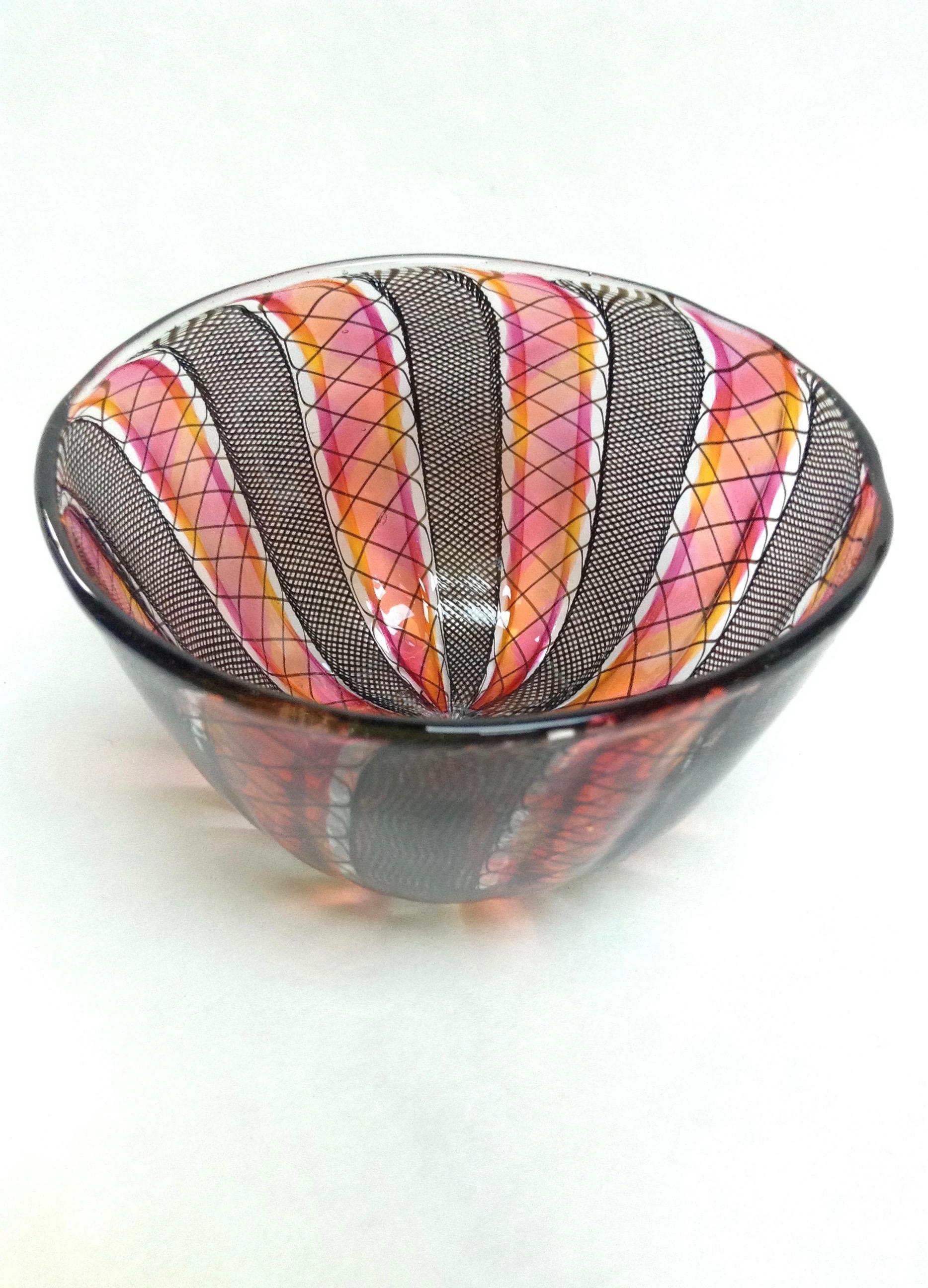 Black/Amber/Gold Ruby Zanfirico Bowl