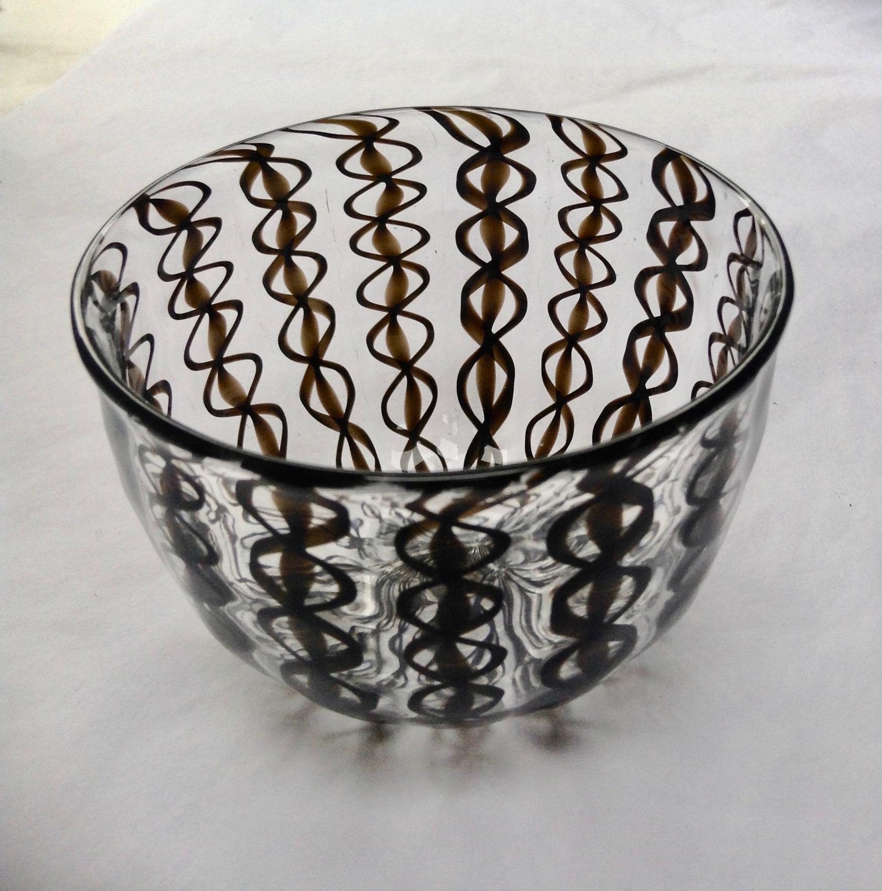 Black Ribbon Zanfirico Bowl