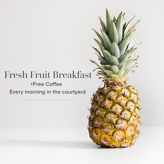 Now announcing free fruit breakfast and coffee each day this week! If our residents enjoy it, we will keep sharing the love every morning for the rest of the semester. We hope to see you tomorrow morning! #LifeAt880