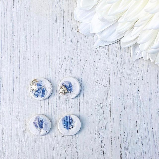 Lavender pressed studs, just a small taste of what just arrived in store. Elegant, Bohemian Jewellery made in the Okanagan Valley by two sisters, Holl and Britt. Super excited to have it in the store. . . . . . #clay #handmade #withlove #bohemian #elegant #freespirit #sisters #okanaganvalley #downtowncumberland #shopcanadianmade . . .