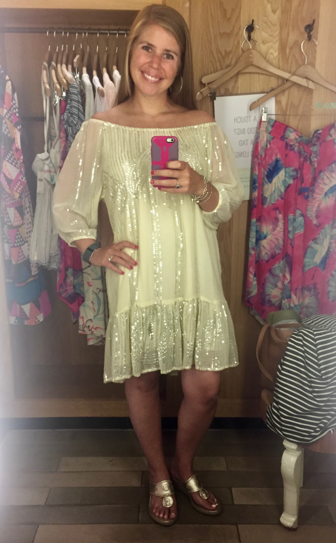 Beaded Sands Swing Dress