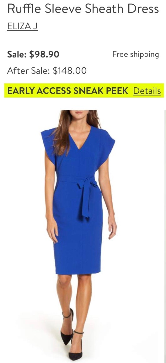 *Ruffle Sleeve Dress