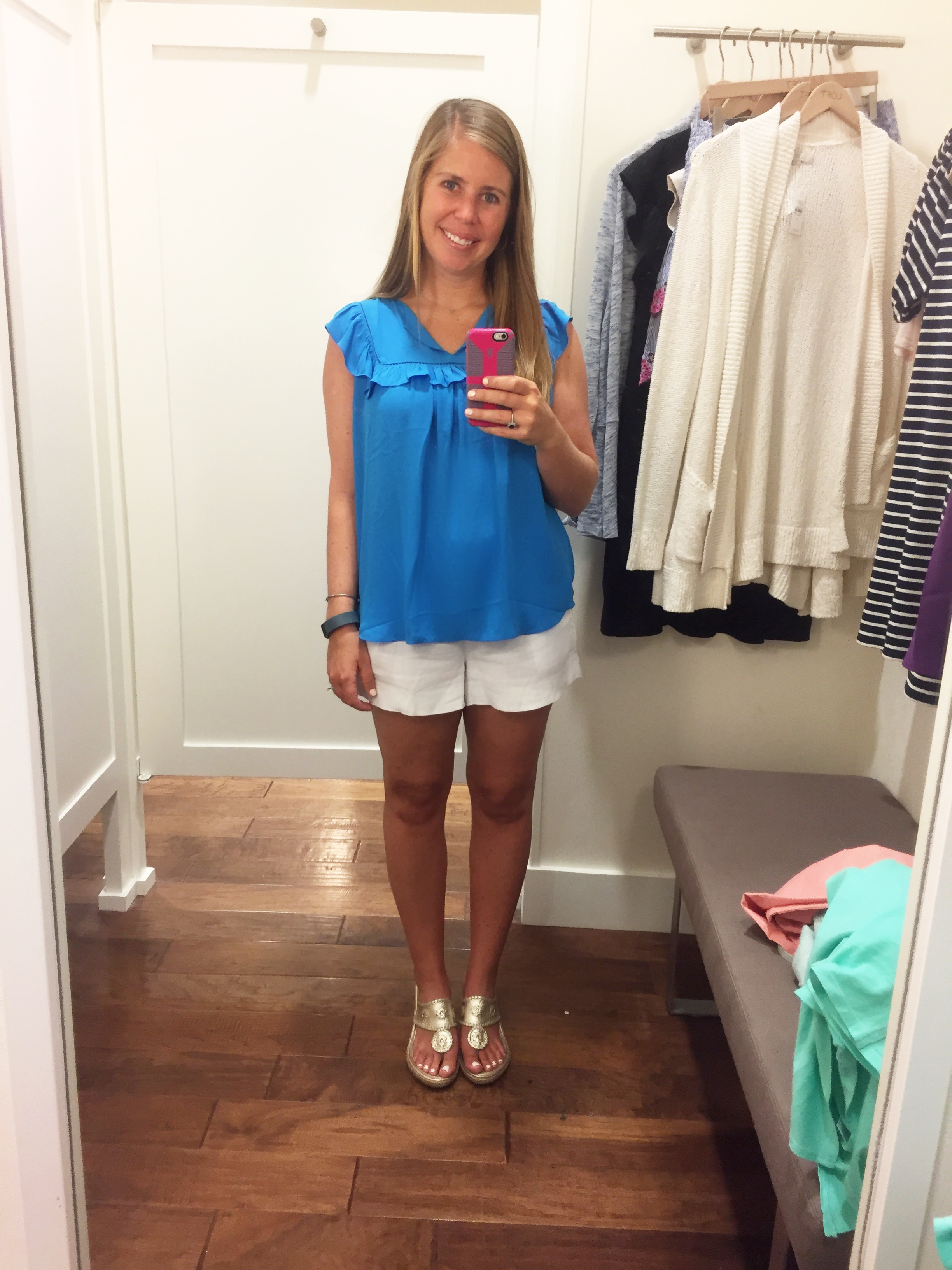 Lacy Ruffle Top (marked down from $44.50 to $19.99)
