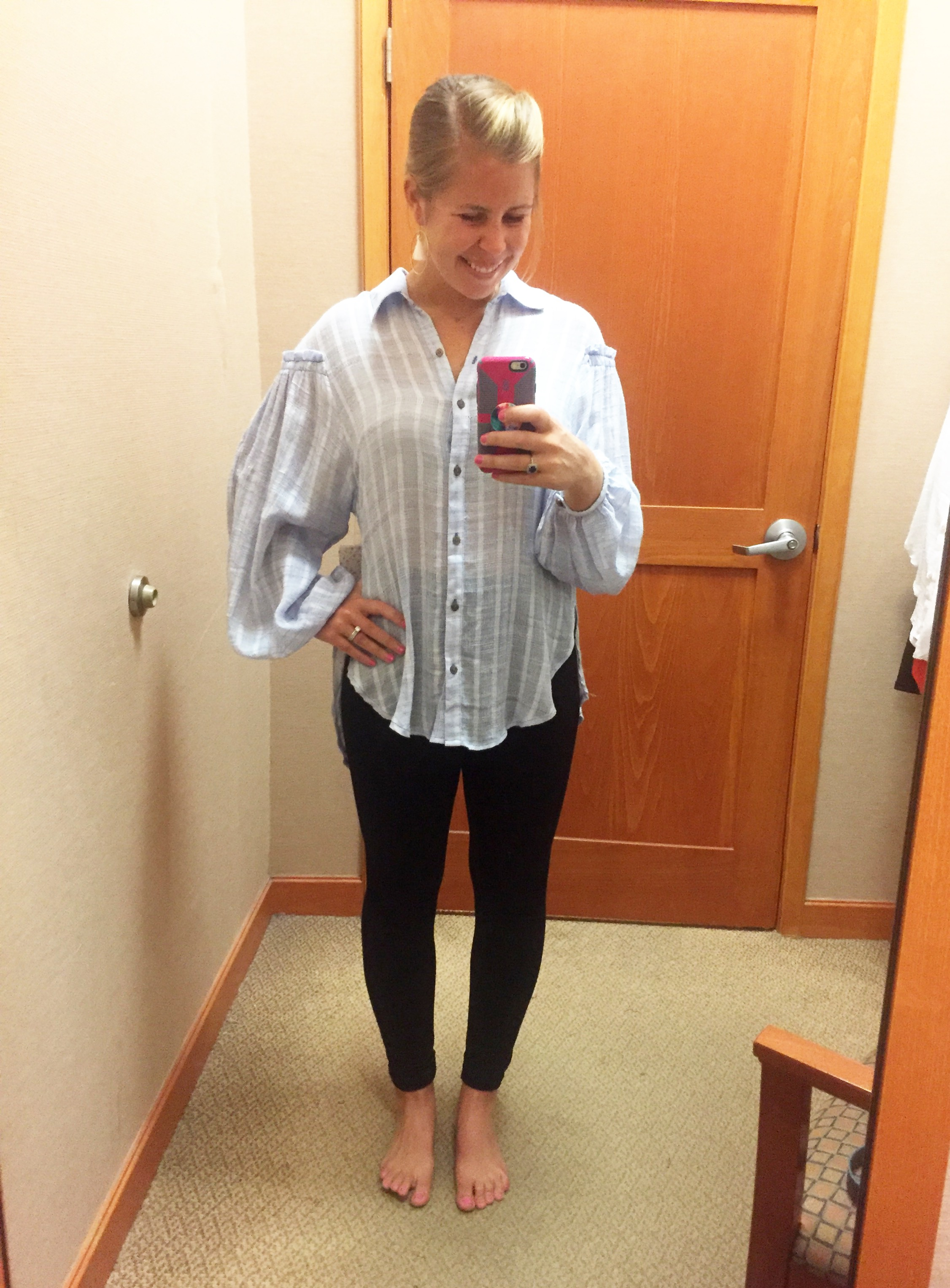 Free People Buttondown Top      (marked down from $98 to $54.99)
