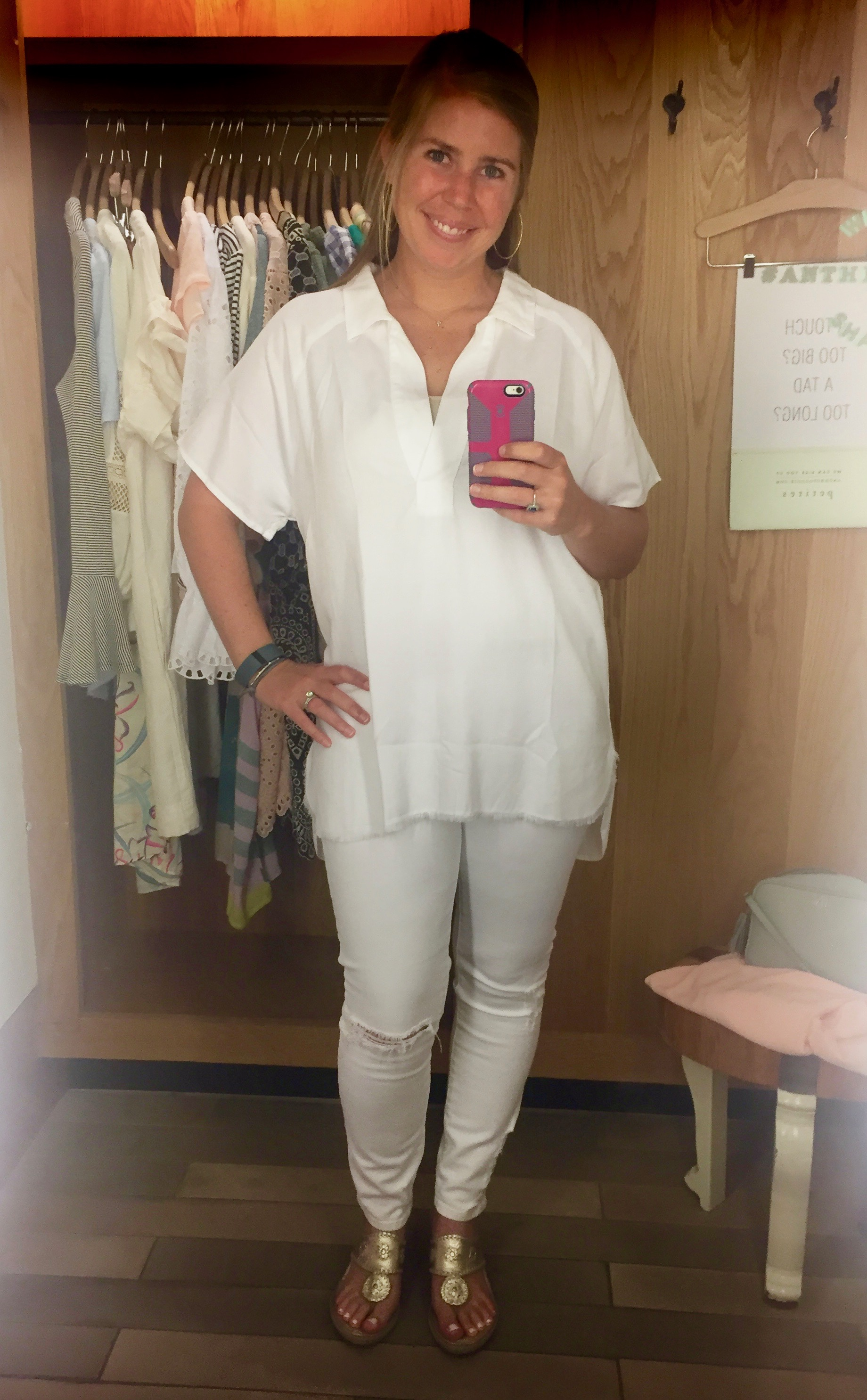 White Tunic (marked down from $88 to $41.97)