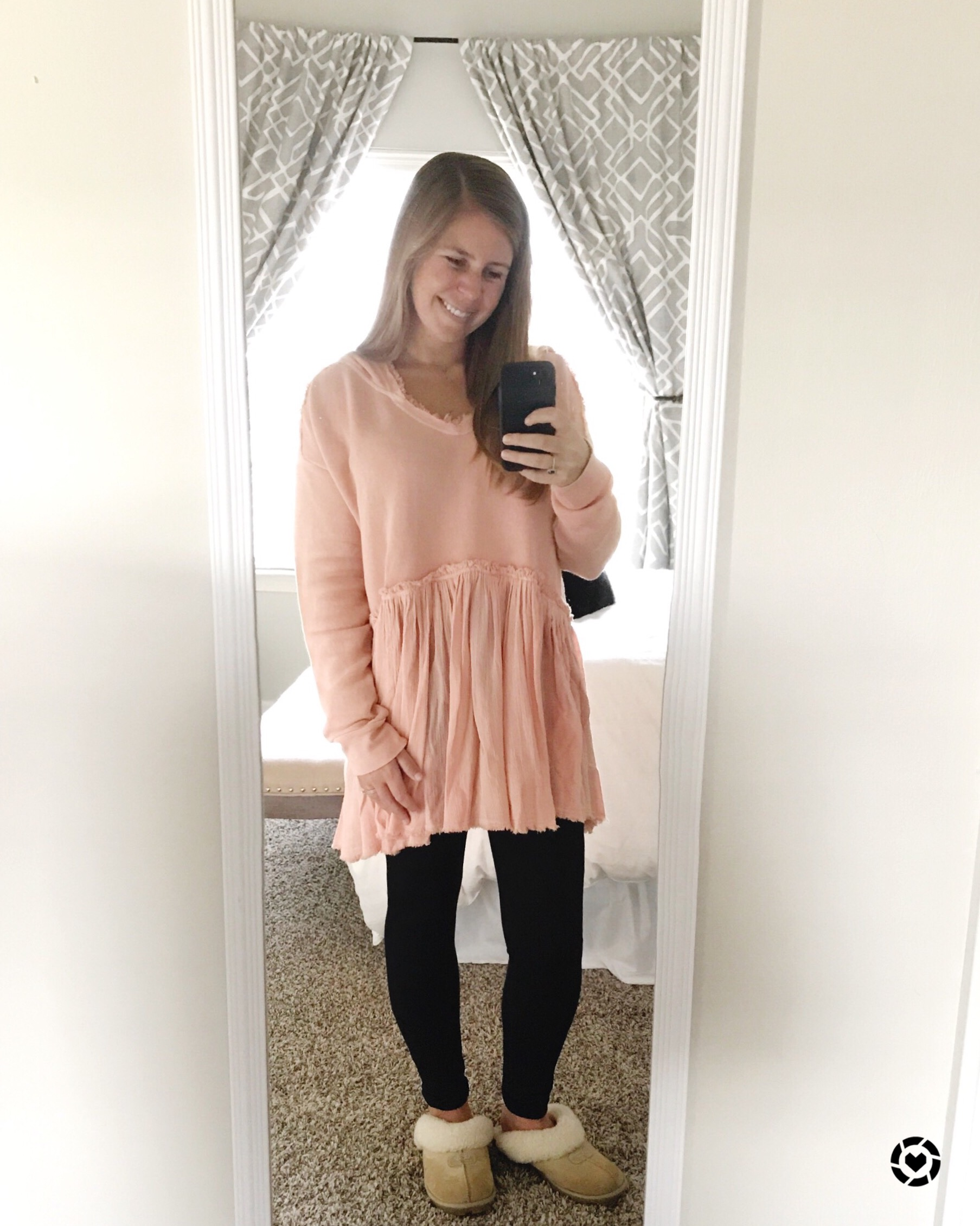 Tunic (size down 1 size)  //  Leggings  //  Slippers