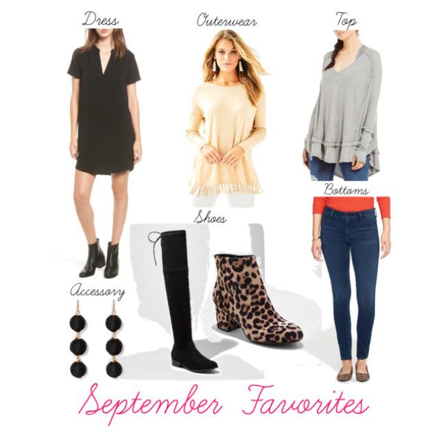 Favorite Dress  //     Favorite Outerwear // Favorite Top  //     Favorite Accessory // Favorite Shoes-   OTK boots,  Leopard booties  // Favorite Bottoms