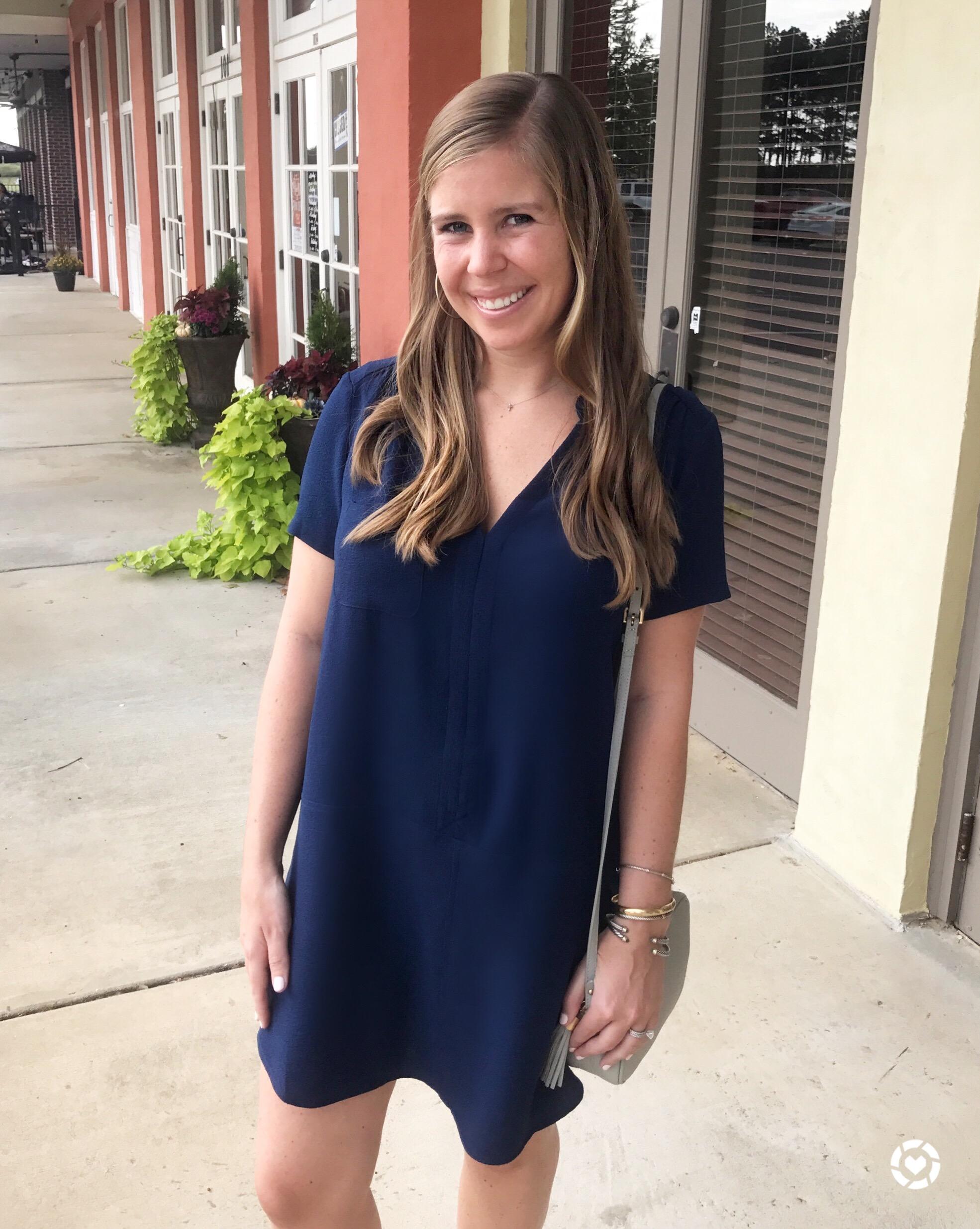 Hailey Crepe Dress //  Crossbody Bag