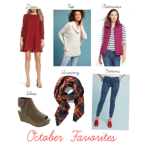 Favorite Dress // Favorite Top // Favorite Outerwear  // Favorite Shoes // Favorite Accessory     // Favorite Bottoms