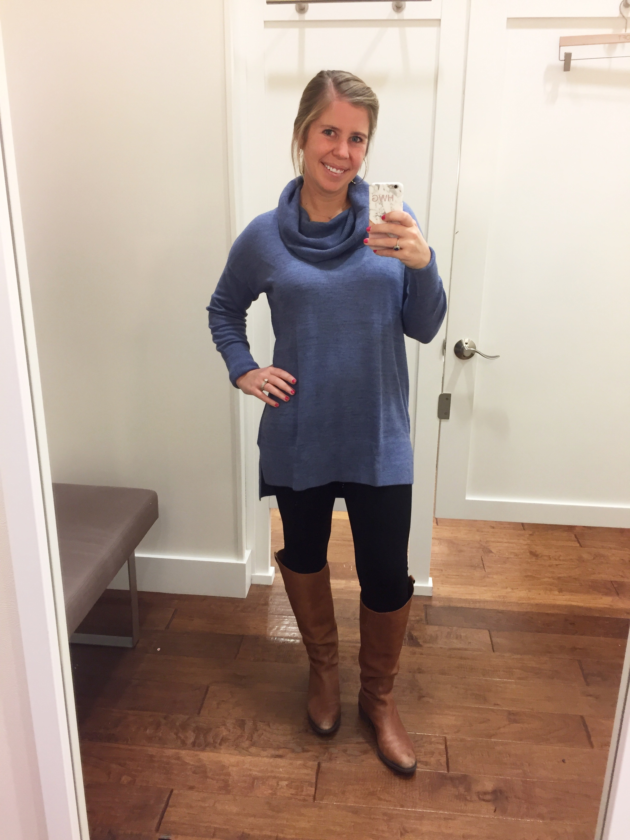 Cowlneck Tunic Sweater  //  Leggings  //  Boots