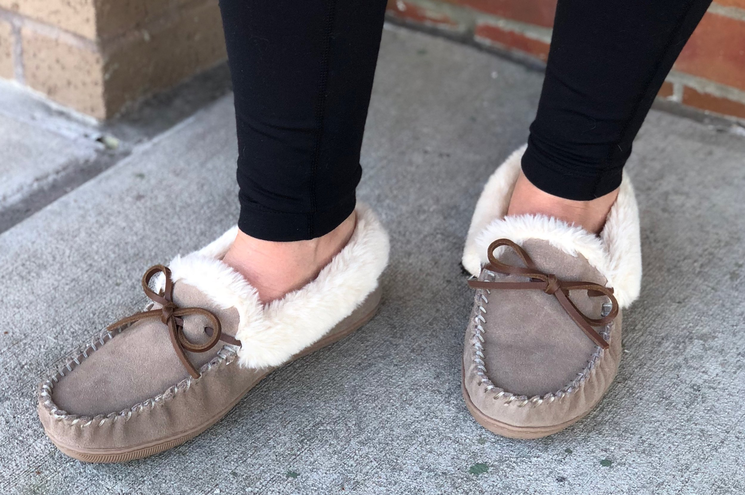 Suede shearling slippers    that are a much more affordable dupe of Uggs (size up if in between sizes)