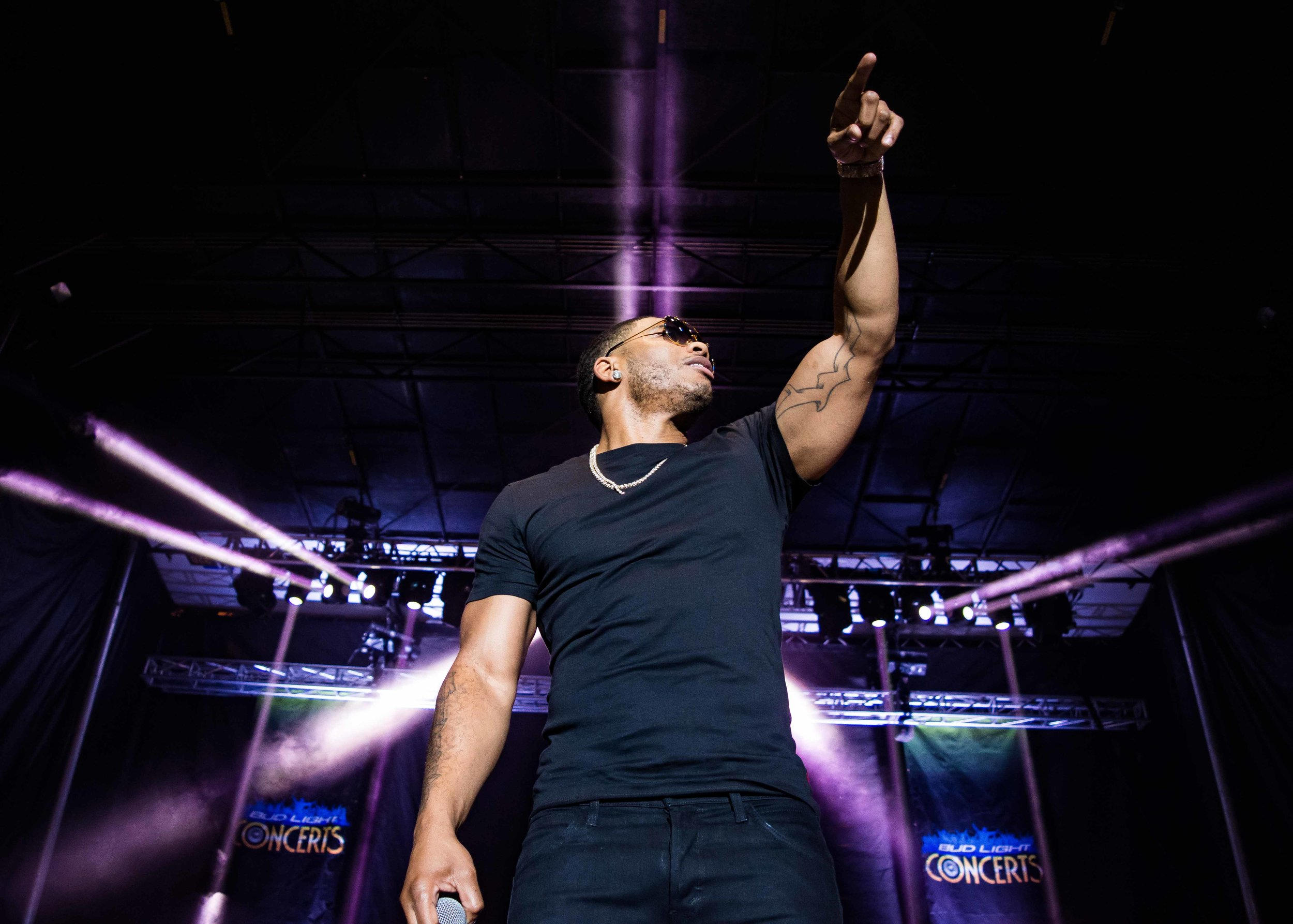 Nelly performed for longer than his contract stated, giving attendees more to hear than originally planned. (© Mike Rundle, 2017)