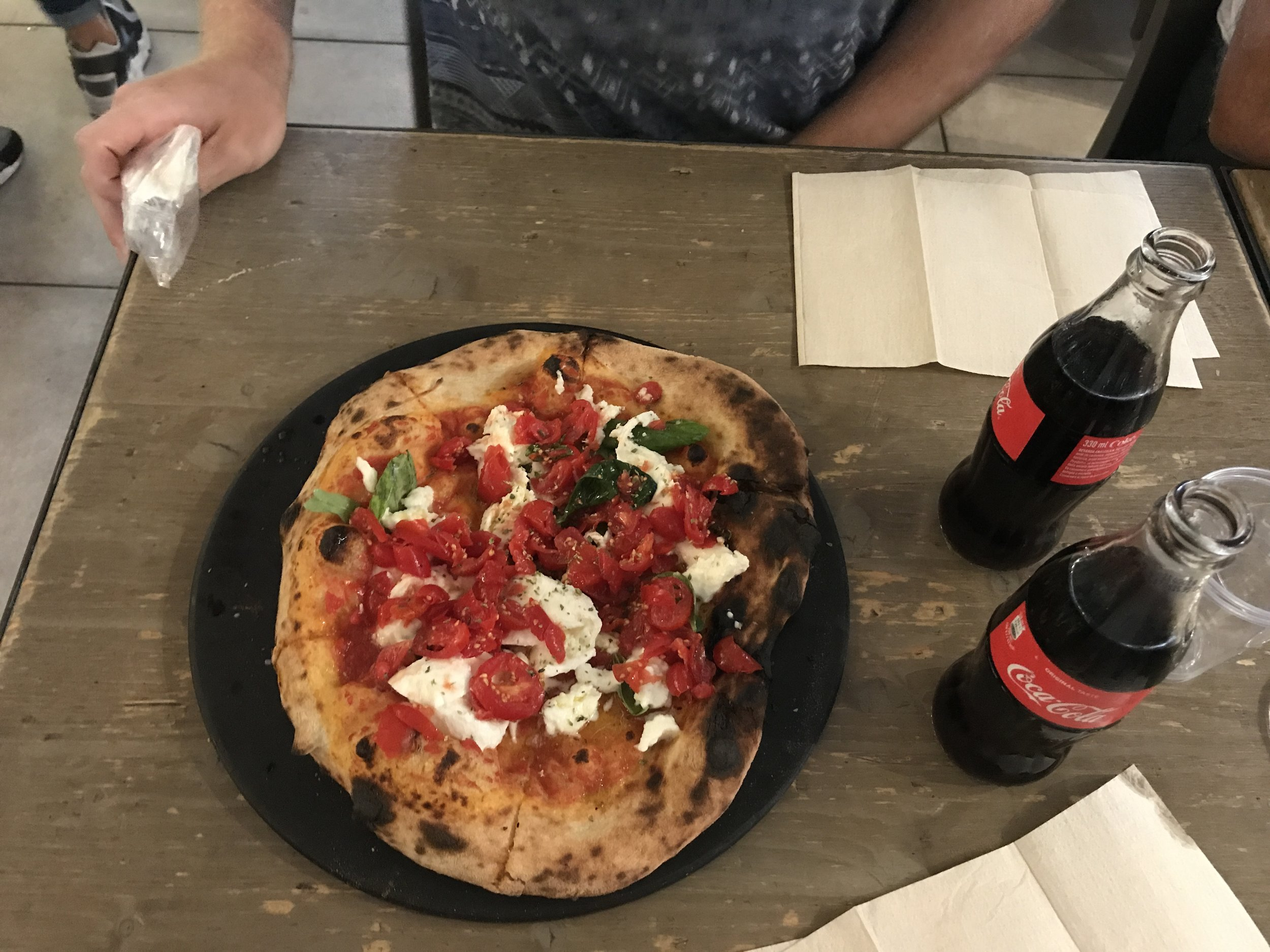 this pizza was the very best. they made the pizza dough fresh, put on tomato sauce, threw in the fire oven, pulled it out and topped it with fresh tomatoes, mozzarella, basil, and olive oil with some oregano to top it off. we want to make this one at home real soon.        and that marks our trip! september of 2017, you will not be forgotten. yay for many more adventures and travels to come!