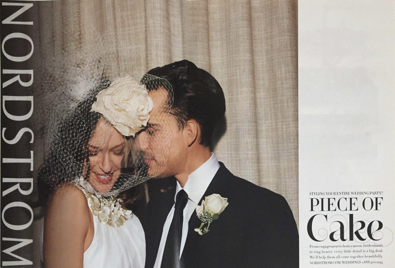 Nordstrom Weddings ad in Martha Stewart Weddings, Fall 2010