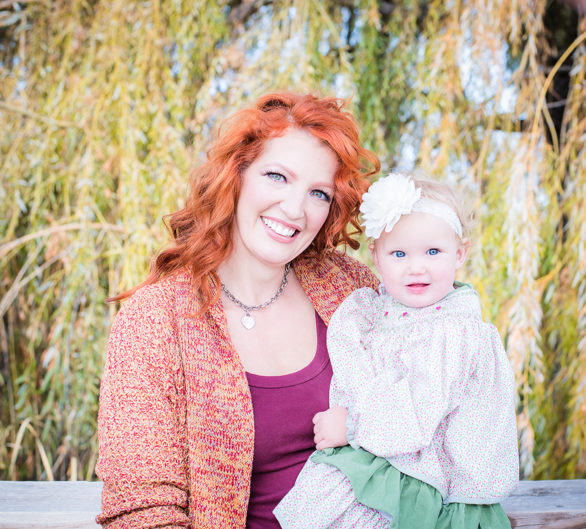 Beautiful Redhead mama with her gorgeous baby girl.