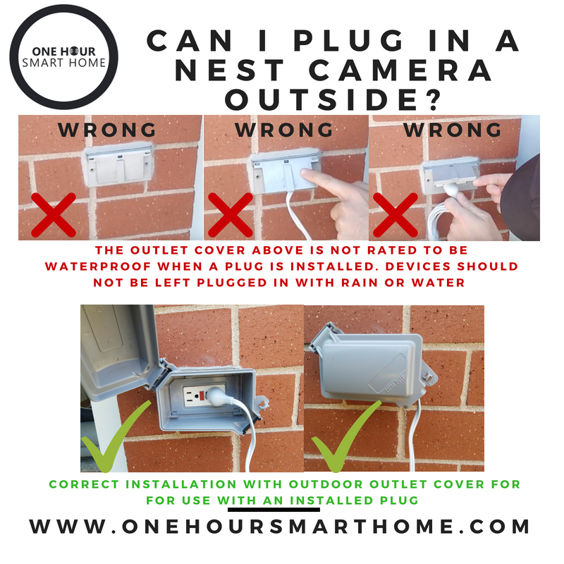 one hour smart home how to plug in an nest cam outdoor