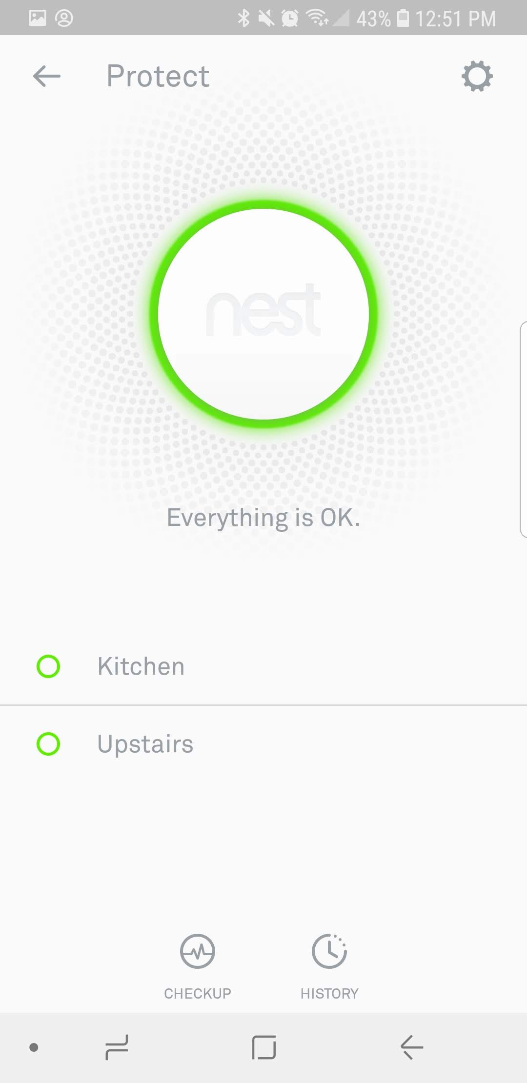 3. Nest Smoke Detector Batteries are properly installed and confirmed by checkup.