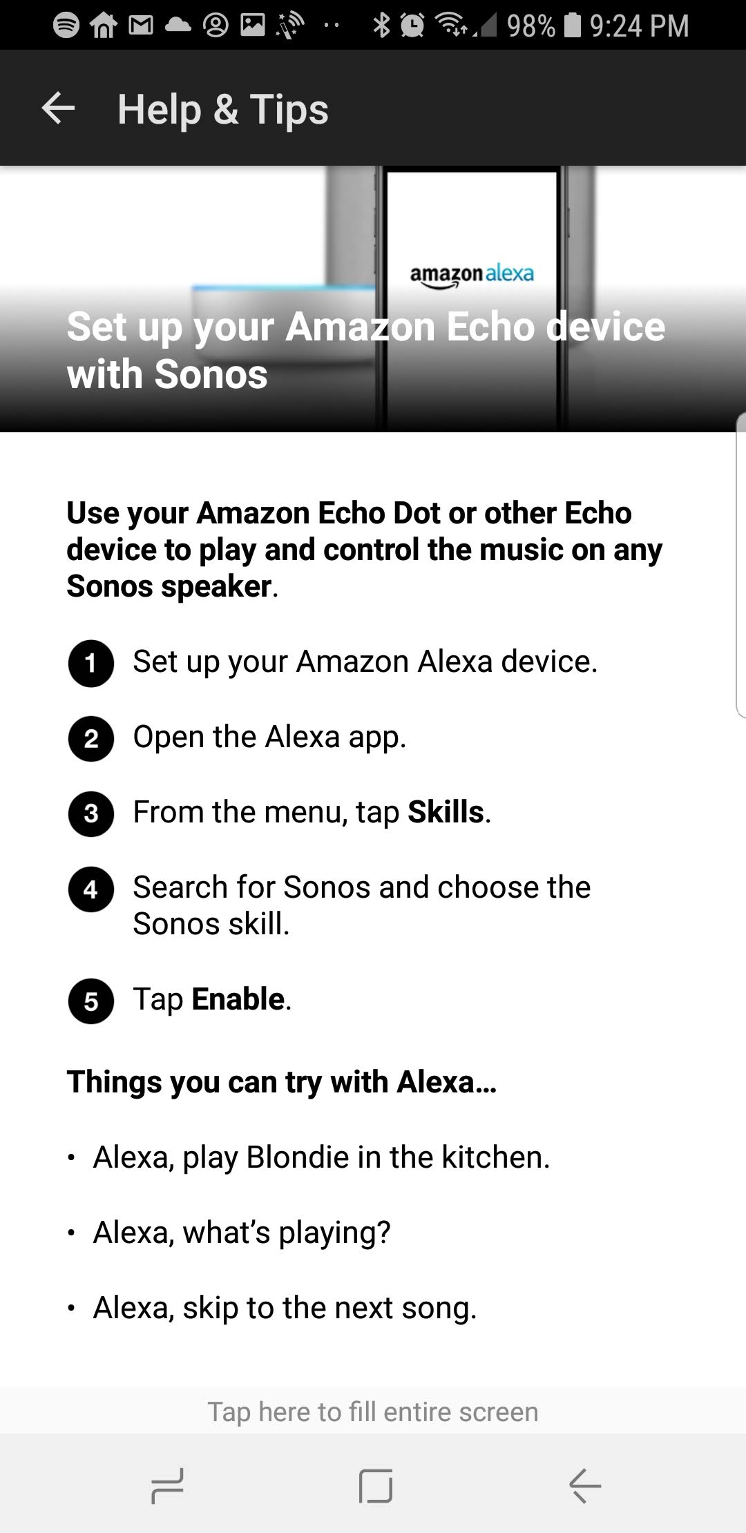 Set Up Alexa With Sonos