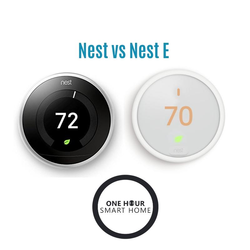 Nest  vs Nest E Smart Thermostat