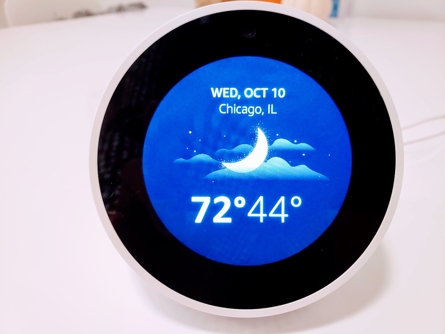View the weather on Echo Spot or Echo Show
