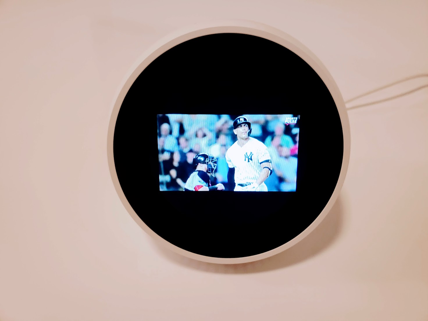 Echo Spot  Showing Sports Update