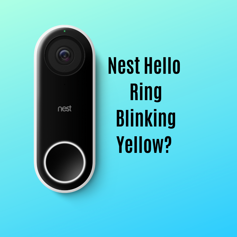 What to do if your nest hello is blinking yellow? You will need to replace it with a  new transformer .