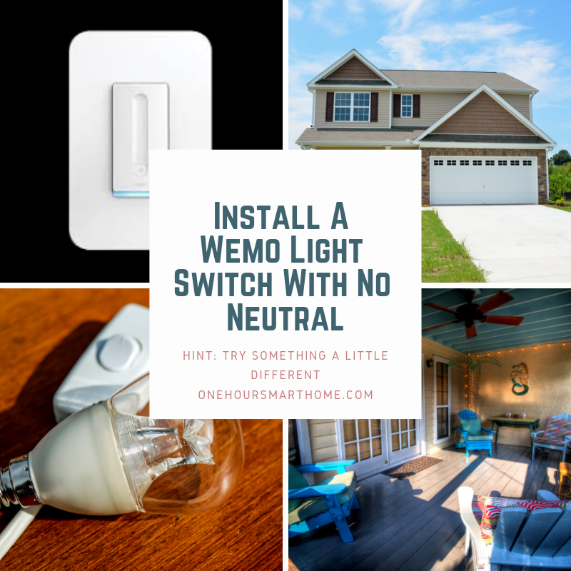 How To  Wemo Light Switch Installation  No Neutral
