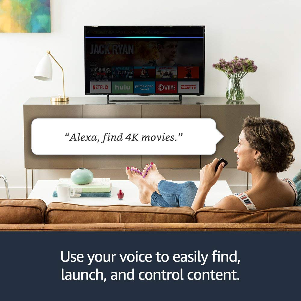 You can use the Fires Stick 4k to control your TV with Alexa voice commands by pressing the remote.