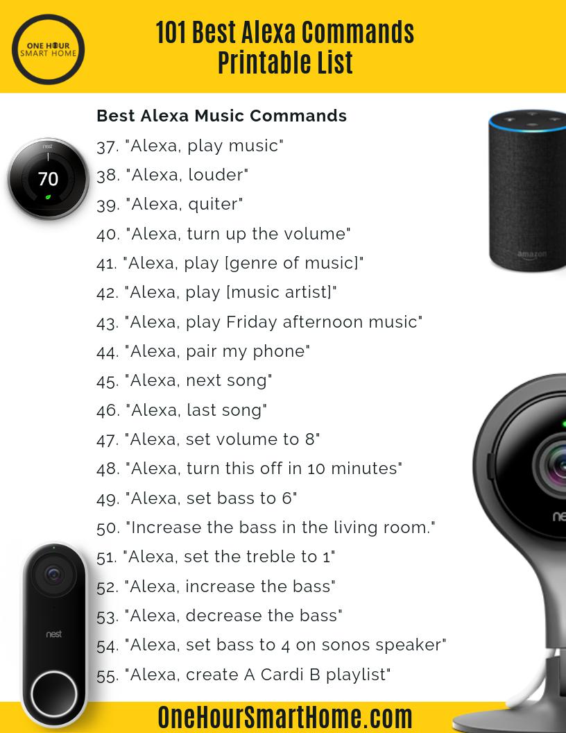 101 Best Alexa Commands Printable List