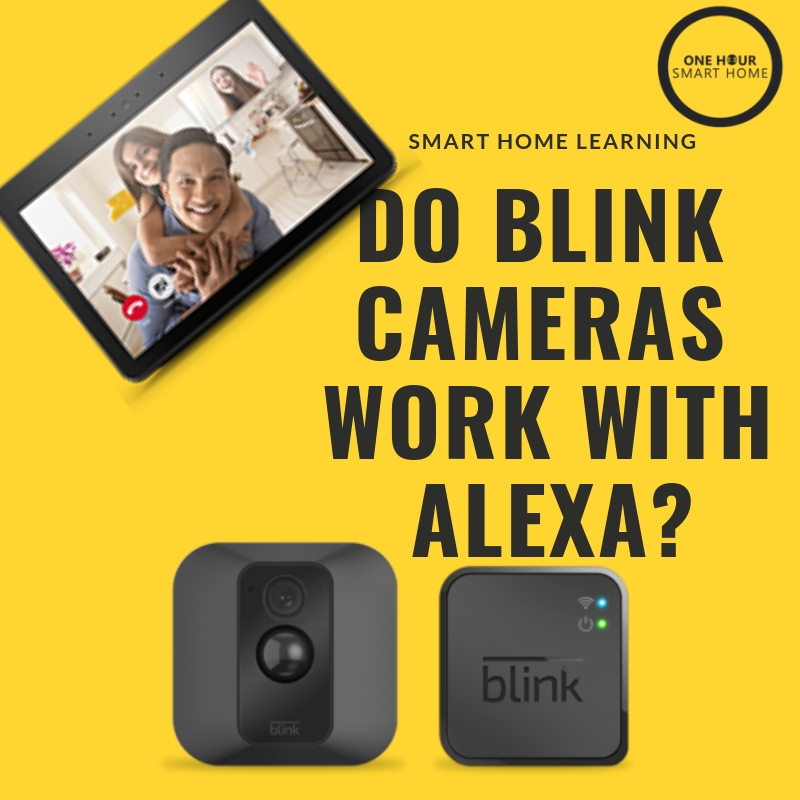 Yes, all  Blink Cameras  work with any Amazon Alexa Device with a screen, Blink Cameras Work With Both Echo Show  &  Echo Spot .