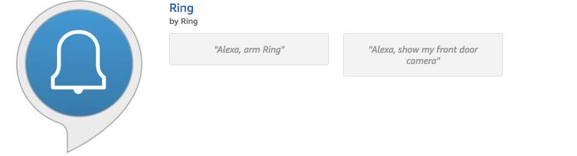 Ring Alexa Skill