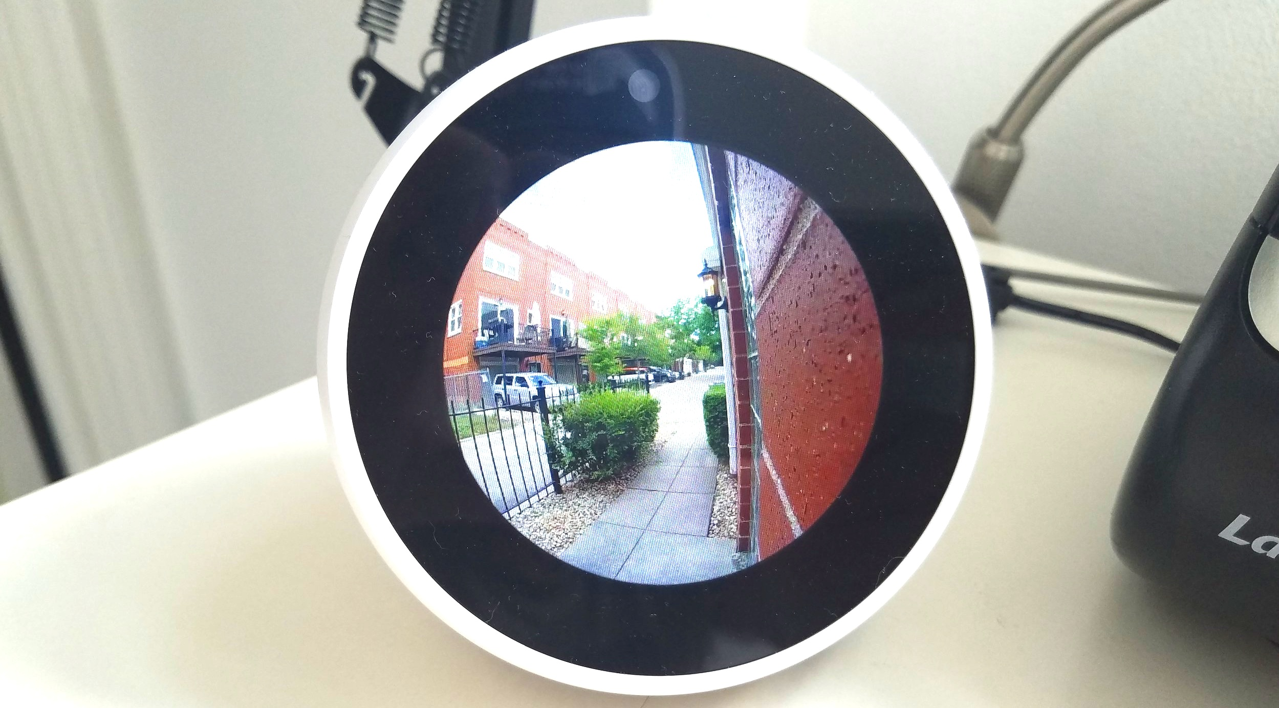 You Can view the Video Feed from Your ring Door view Cam on Any Alexa Device With a screen. Live Doorbell Feed Shown on Echo Spot