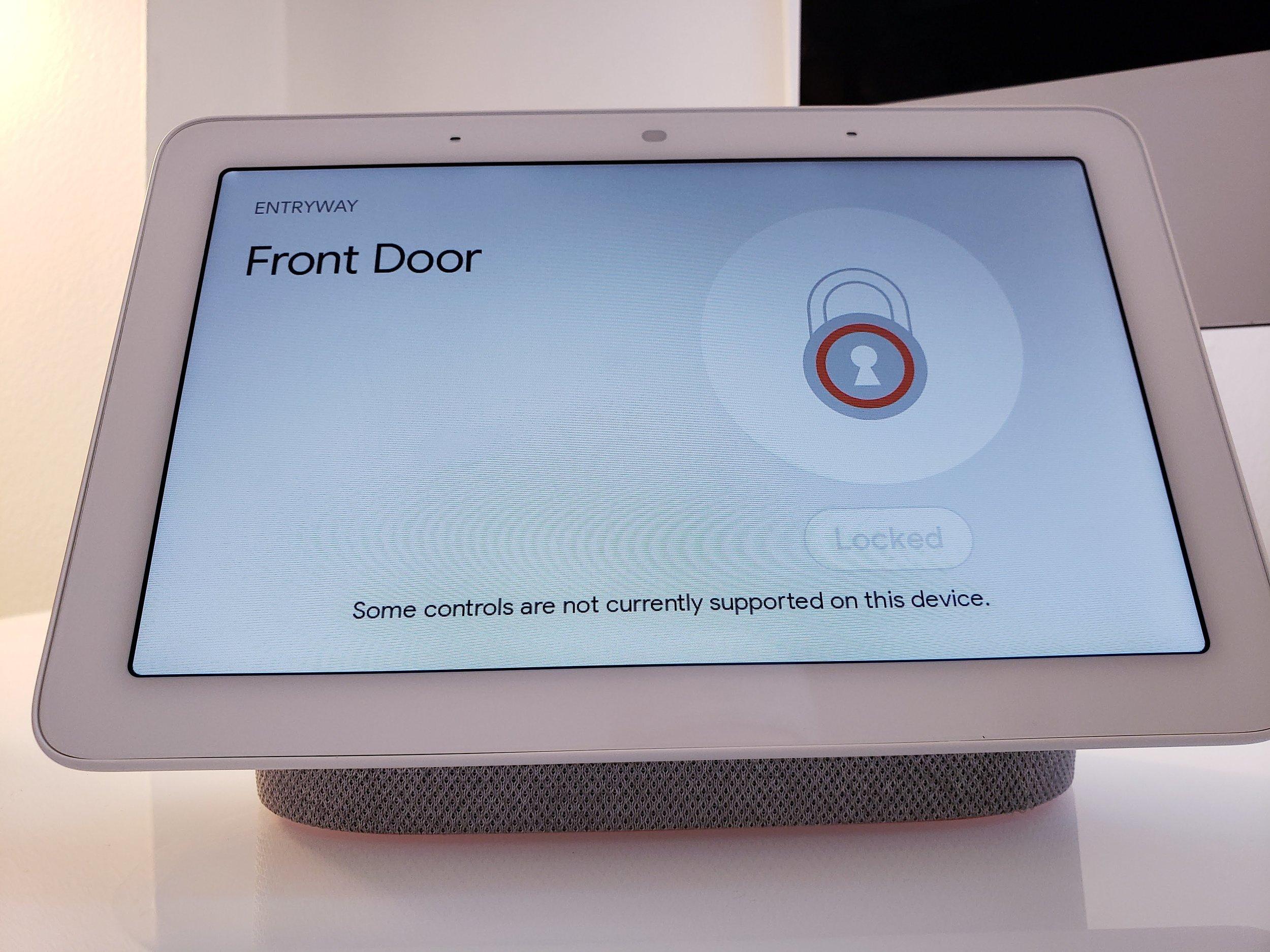 """Google Home Command: """"Ok Google, Lock Front Door"""""""