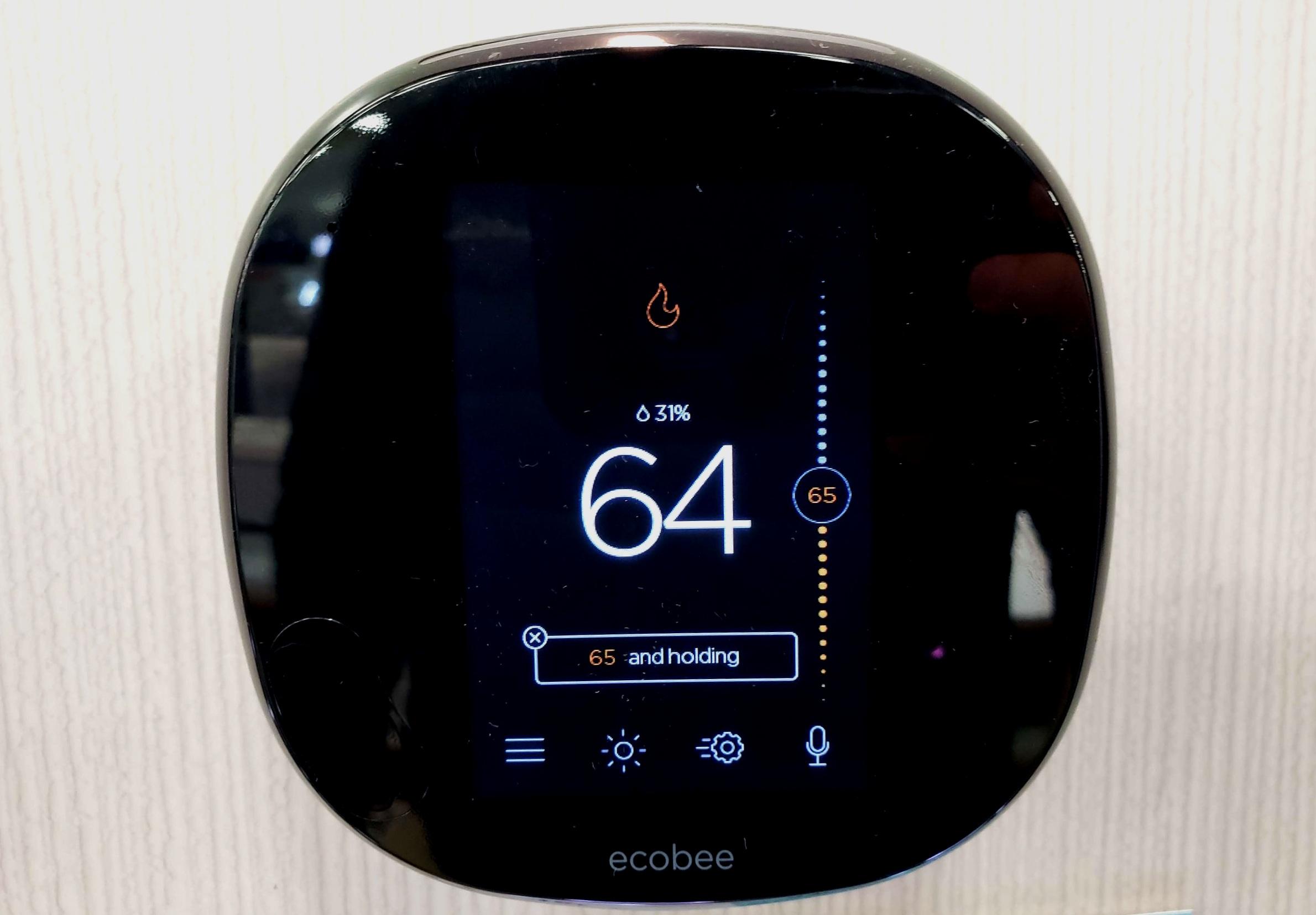 Nest vs Ecobee: Ecobee Thermostat Touch Screen Display