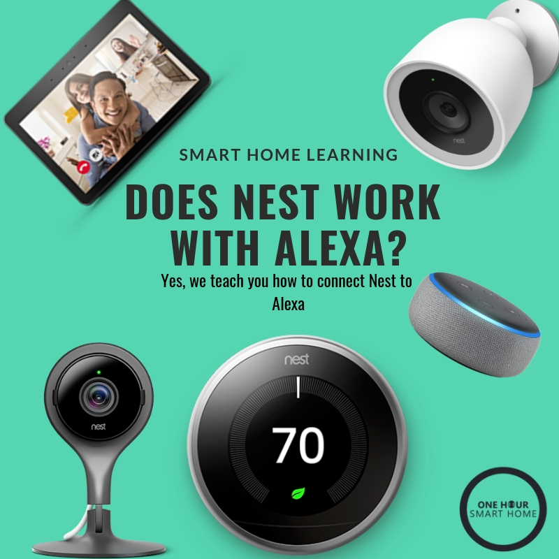 Does Nest Work With Alexa? Yes, Nest Thermostats, Nest Cameras & Nest Doorbells All Work With Alexa.
