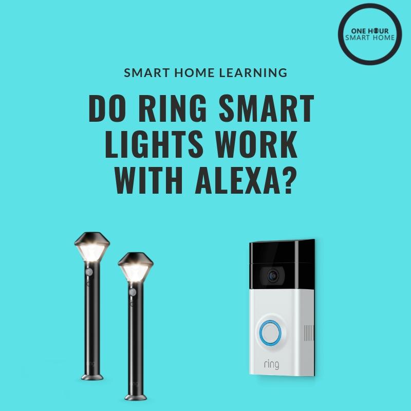 Do Ring Smart Lights Work Whit Alexa? Yes, the new battery powered Ring Smart Lights work with Alexa and Ring App control for smart lighting control.