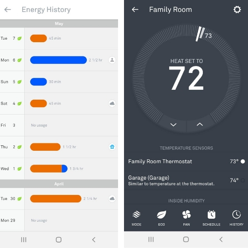 Does Nest Work With Apple Watch? Nest Thermostat Screenshots